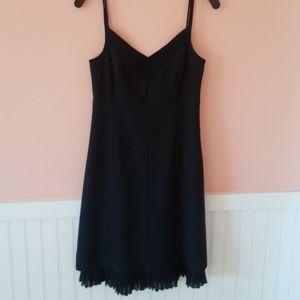 Amazing theory black dress w pleated detail